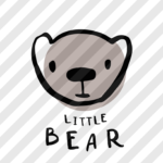 """Plotterdatei """"Bärenbande"""" kleiner Bär"""